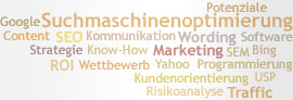 Tag Cloud: Suchmaschinenoptimierung