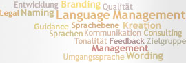 Tag Cloud: Sprachmanagement
