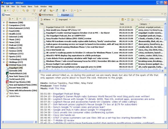 RSS-Aggregator RSSOwl