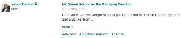 Simon Dornoo auf XING