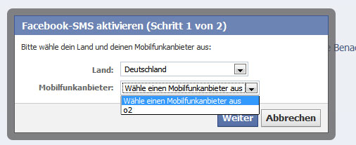 Facebook-SMS Requester