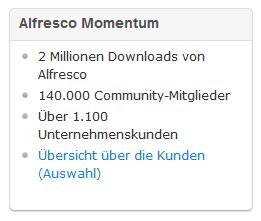 Alfresco Enterprise-Kunden (.de Homepage)