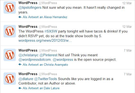 Wordpress-Tweets