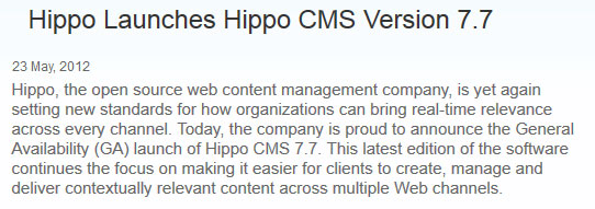 Hippo CMS 7.7 Release-Note