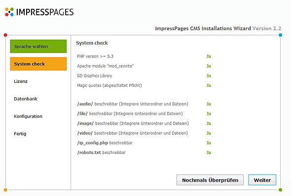 ImpressPages 2.2 - Installations-Check