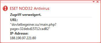 Warnung auf PivotX-Security